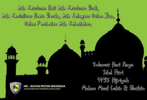 Selamat Hari Raya Idul Fitri 1435 H Mohon Maaf Lahir & Batin